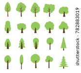 vector collection of trees... | Shutterstock .eps vector #782883019