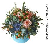bouquet of different flowers on ... | Shutterstock . vector #782885620