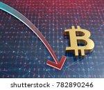 bitcoin crash concept. stock... | Shutterstock . vector #782890246