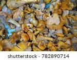 chanterelle mushroom for sale... | Shutterstock . vector #782890714