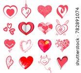 set of artistic hand drawn... | Shutterstock .eps vector #782891074