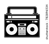 old radio stereo | Shutterstock .eps vector #782896534