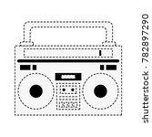 old radio stereo | Shutterstock .eps vector #782897290