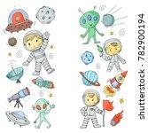 moon surface. kindergarten... | Shutterstock .eps vector #782900194