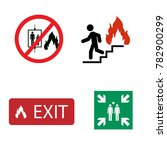 Fire Safety Raster Icon Set. In ...