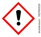 raster illustration ghs hazard... | Shutterstock . vector #782900320