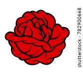 red rose isolated on white... | Shutterstock .eps vector #782900668