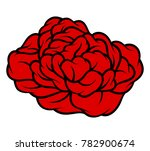 red rose isolated on white... | Shutterstock .eps vector #782900674