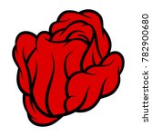 red rose isolated on white... | Shutterstock .eps vector #782900680