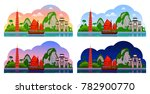 vietnam. horizontal panoramic... | Shutterstock .eps vector #782900770
