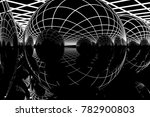 black reflection 3d render art | Shutterstock . vector #782900803