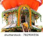 giantic wooden chariot on the... | Shutterstock . vector #782904556