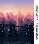 modern urban skyline downtown... | Shutterstock .eps vector #782905804