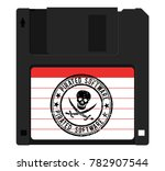 diskette with pirated software  ...