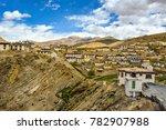 kibber also kyibar is a village ... | Shutterstock . vector #782907988