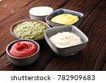 set of sauces   ketchup ... | Shutterstock . vector #782909683