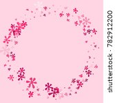 pink blots on a pink background.... | Shutterstock .eps vector #782912200