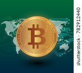 bitcoin stock vector...   Shutterstock .eps vector #782912440
