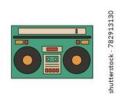 old radio stereo | Shutterstock .eps vector #782913130