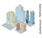 isometric city 3d | Shutterstock .eps vector #782914396
