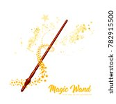 magic wand with stars on white...   Shutterstock .eps vector #782915500