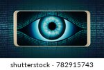 the all seeing eye of big... | Shutterstock .eps vector #782915743