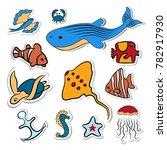 Clipart.  Shells  Fish  Deep...