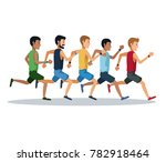 people running over white... | Shutterstock .eps vector #782918464