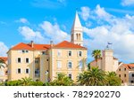 church and typical houses in... | Shutterstock . vector #782920270