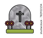 cemetery tombstone isolated | Shutterstock .eps vector #782922154