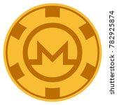 monero golden casino chip... | Shutterstock .eps vector #782925874