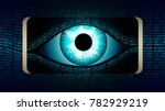 the all seeing eye of big... | Shutterstock .eps vector #782929219