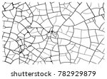 earth cracks or stone on white... | Shutterstock .eps vector #782929879