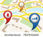 set of tourism services map... | Shutterstock .eps vector #782932660