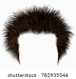 trendy shaggy man hairs black... | Shutterstock .eps vector #782935546