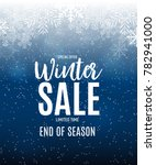 end of winter sale background ... | Shutterstock .eps vector #782941000