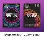 electronic music poster. modern ... | Shutterstock .eps vector #782941480