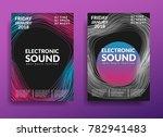 electronic music poster. modern ... | Shutterstock .eps vector #782941483