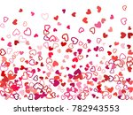 red valentine's day scatter of...   Shutterstock .eps vector #782943553