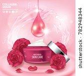rose collagen vitamin skin care ...   Shutterstock .eps vector #782948344