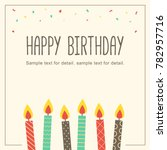 Happy Birthday Card With Candl...