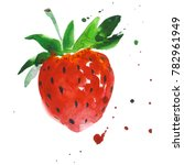 exotic strawberry healthy food... | Shutterstock . vector #782961949