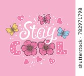 Stay Cool. Summer Slogan With...