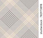 glen plaid check in brown  off... | Shutterstock .eps vector #782973898