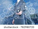 digital marketing business...   Shutterstock . vector #782980720