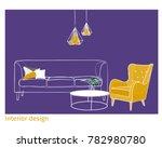 interior design vector... | Shutterstock .eps vector #782980780