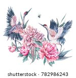 watercolor nature card with... | Shutterstock . vector #782986243