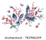 watercolor nature card with... | Shutterstock . vector #782986249