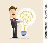 businessman hugs a big... | Shutterstock .eps vector #782991736