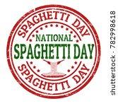 national spaghetti day grunge... | Shutterstock .eps vector #782998618